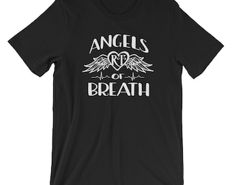 Respiratory Therapy Angels of Breath RT Unisex T-Shirt for RRT Respiratory Therapist Gift