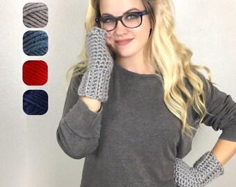 Chunky Fingerless Gloves -  Fingerless Texting Gloves - Chunky Gloves - Chunky Fingerless Mittens - Wrist Warmers - Photographer Gift