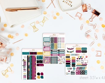 Winter Velvet MINI Weekly Kit // 130+ Matte Planner Stickers // Perfect for your Personal Planner // WKM0950