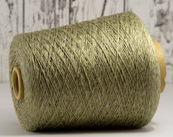 Cotton-linen yarn on cone, Italy, cotton with linen (Italy) on cone, per 100g: Li_Co_26