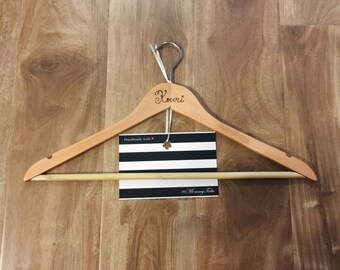 Personalized Hanger, Wood Burn Hanger, Personalizrd Gift