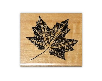 Maple Leaf mounted rubber stamp Autumn, Canada, nature, Fall, Sweet Grass Stamps No.1