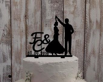 "Wedding Cake Topper ""Dancing Couple"" - wedding / cake figure / wedding cake / wedding decoration / wedding accessoires / bride and groom"