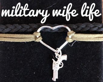 Military Jewelry, military wife, Military life, olive green bracelet, support the troops