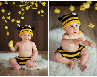 Baby Prop Newborn prop Photo prop Crochet baby prop Crochet newborn prop Prop set Bee prop Baby Bee Prop Spring photo Prop Spring Honey prop