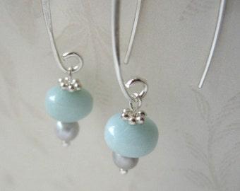 dream - amazonite earrings