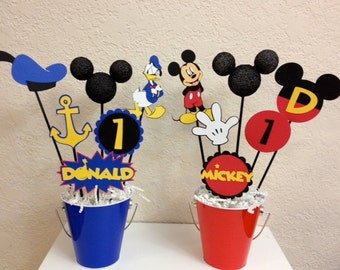 Mickey Mouse and Donald Duck Clubhouse Birthday Centerpiece - or Baby Shower