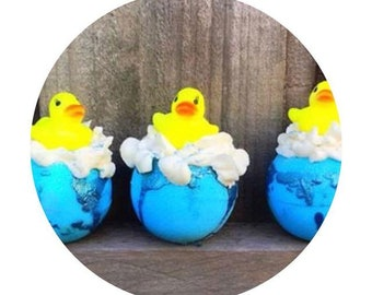 The Rubber Duckie Bath bomb.