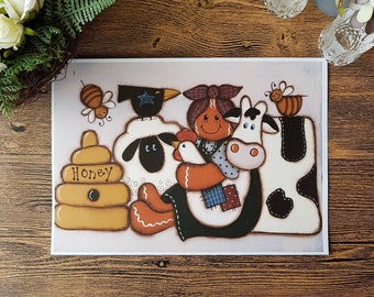 SALE - Print - Gingerbread Friends