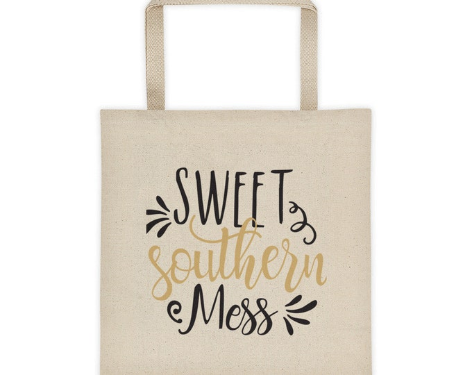 Cotton Canvas Natural Tote Bag Sweet Southern Mess