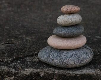 Meditation Altar Stones - Small Zen Garden Sculpture - Stacking Beach Stones - Relaxation Gift - Mindfulness - Small Zen Sculpture