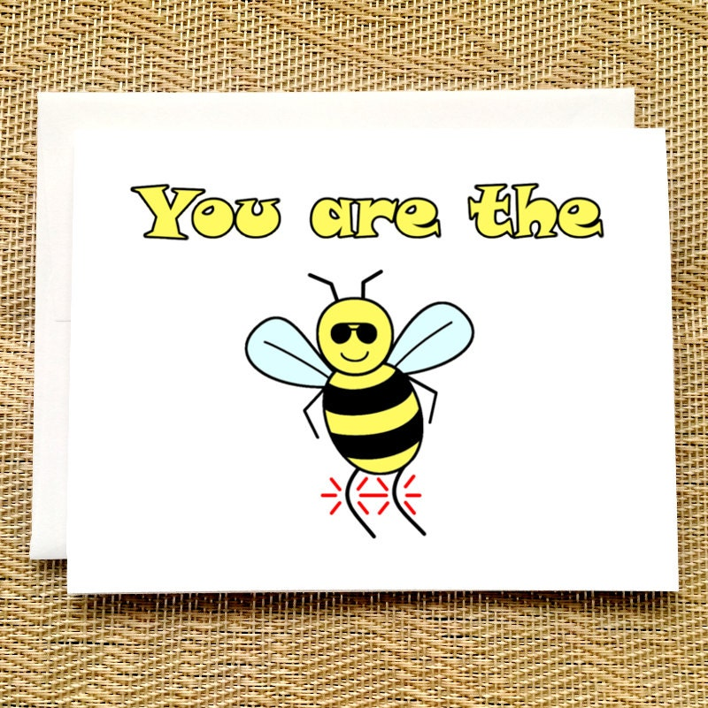 Funny birthday card funny you are the bees knees funny card zoom bookmarktalkfo Image collections