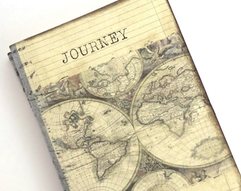 Travel journal world map journal travel notebook journey pocket travel journal world map journal mini altered notebook travel pocketbook journey gumiabroncs Gallery