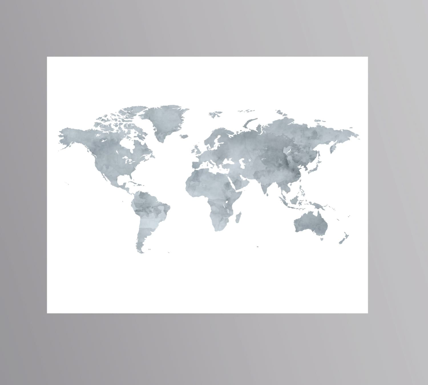Printable grey world map watercolor wanderlust poster download zoom gumiabroncs Image collections