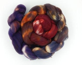 Jasper 4.37 oz 124g Superwash Merino Combed Top Roving / Wool Roving for Spinning or Weaving