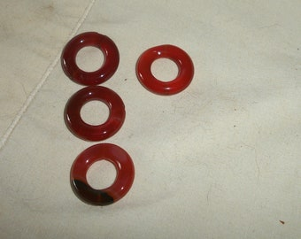 20mm carnelian donutes, sold 4 pcs