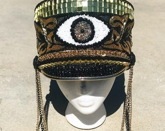 THIRD EYE MARCHING - custom hat, marching band hat, Burning Man hat, festival hat