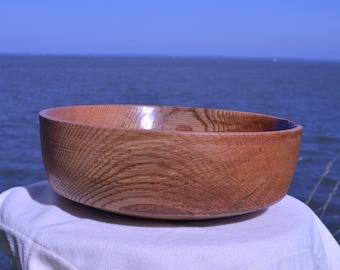 Beautifully detailed, hand spun wooden bowl