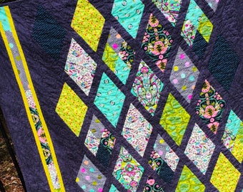 Handmade Quilt Tula Pink Slow and Steady fabric