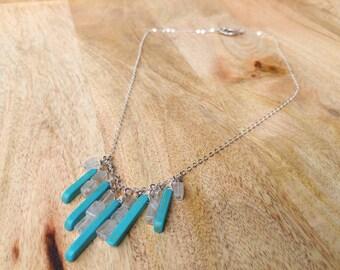 Quartz and Howlite Necklace