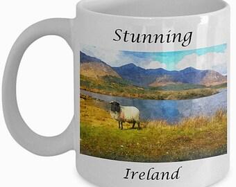 Ireland Souvenir, Ireland Print, Ireland Coffee Mug, Scenery Print, Irish gift, Ireland Gift, Kitchen Decor, Farmhouse Decor,  Pretty Mug