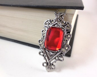 Isabelle Lightwoods Demon Sensing Red Necklace Inspired by Mortal Instruments