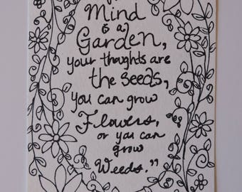 Your Mind is a Garden - Original, One of a Kind Painting Page