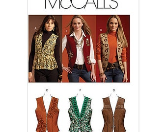 OUT of PRINT McCall's Pattern M5933 Misses' Lined Vest