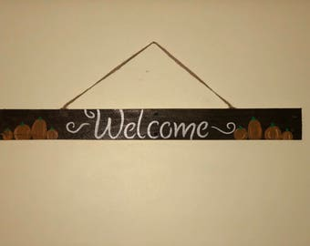 Wooden Pallet welcome sign!