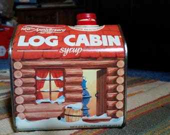 1987 100th Anniversary Log Cabin Tin