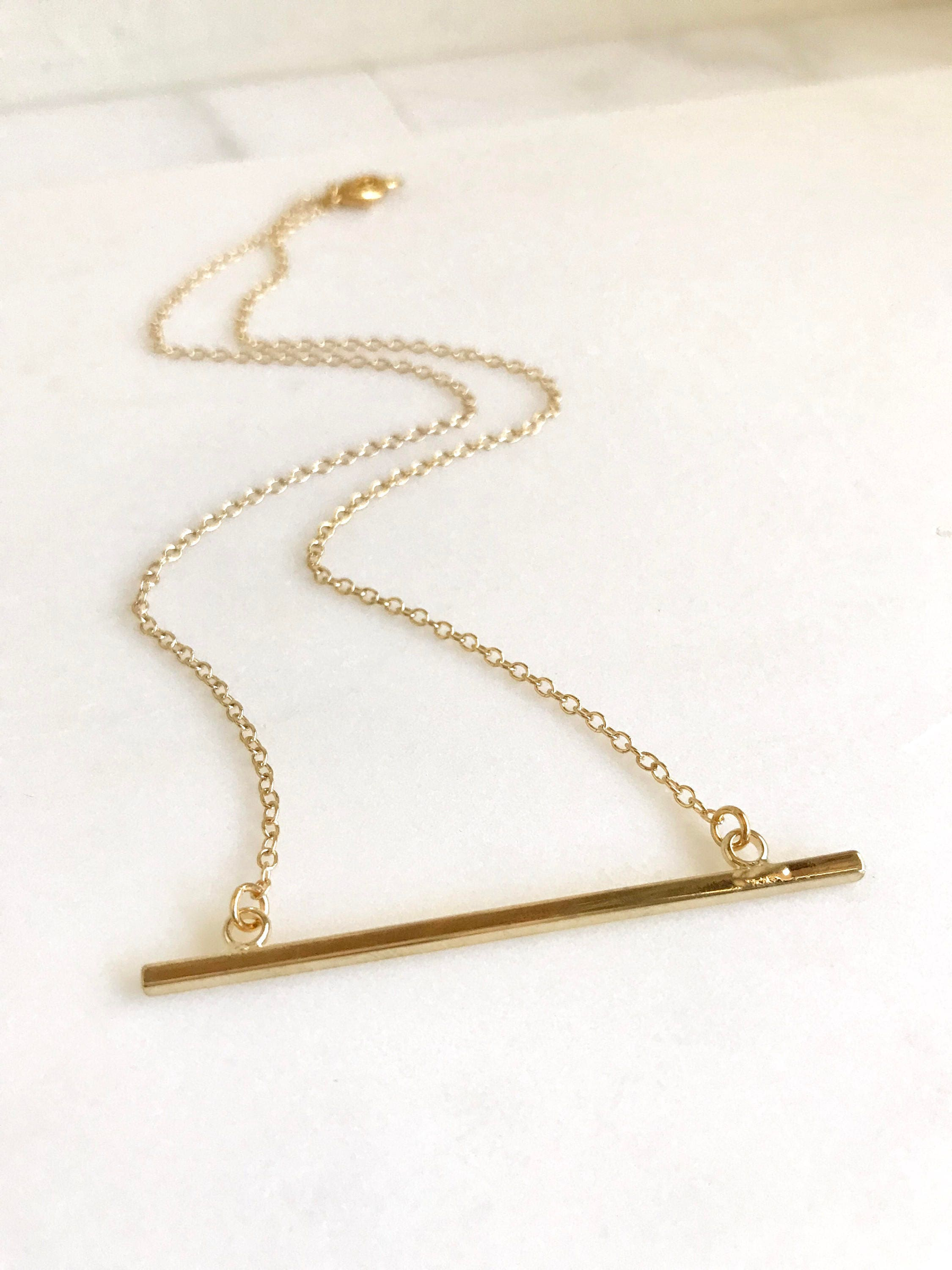 double carousell long on women p fashion gold jewellery pendant vertical bar necklace s