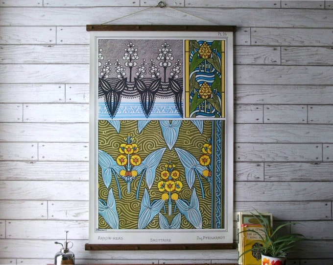 Art Nouveau Botanical Chart -Sagittaire