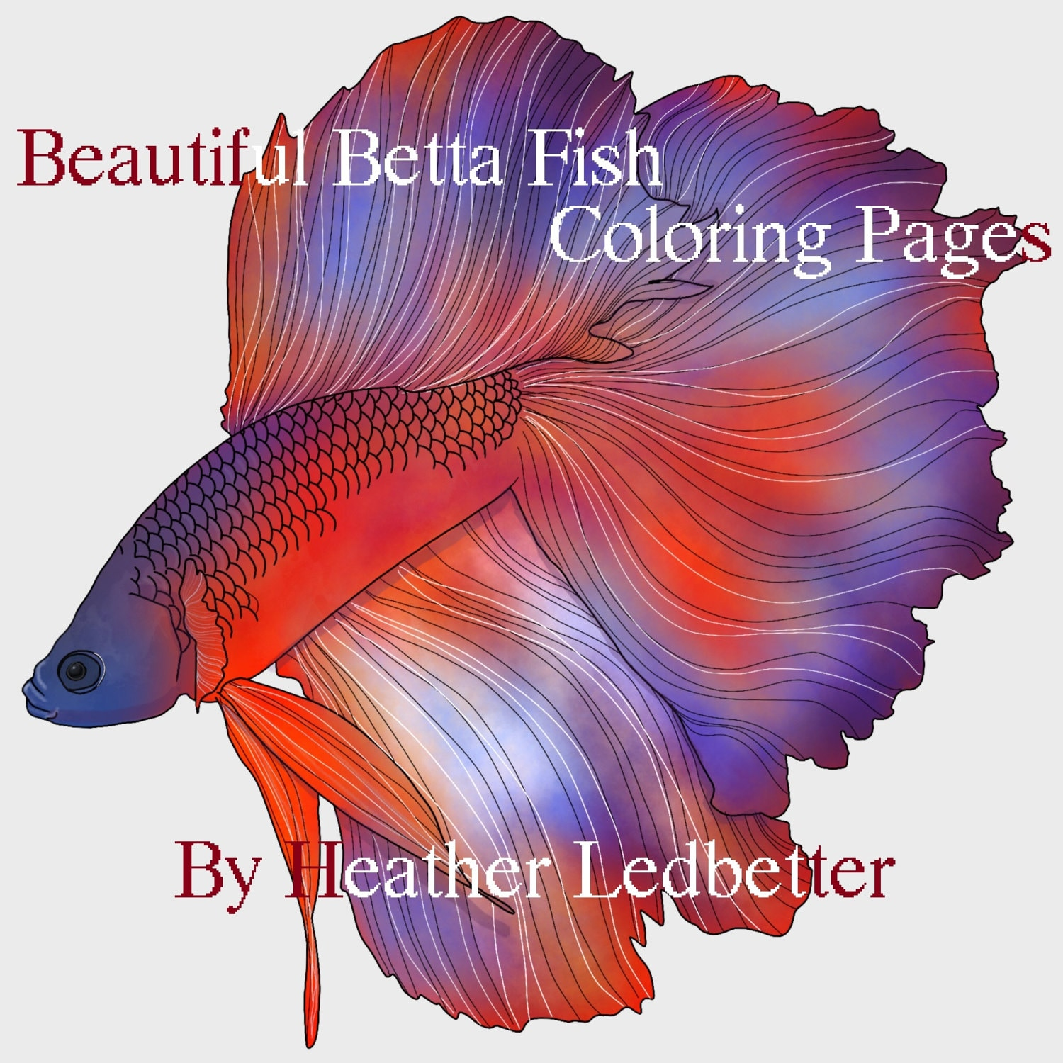 Beautiful Betta Fish Coloring Pages 6 images