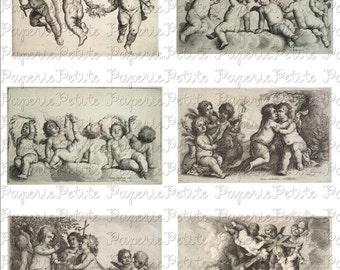 Cherubs Digital Download Collage Sheet B