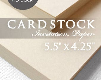 "Ivory Cardstock Paper - 25 Pack - Ivory Off White Cardstock - A2 - 5.5"" x 4.25"" - Ivory Off White Card Stock Paper"