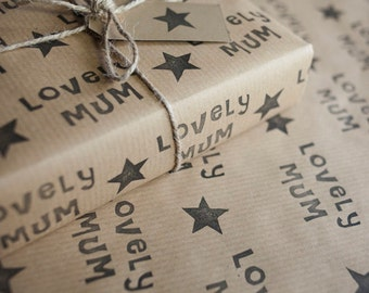 Mothers Day Wrapping Paper: Including 1 Piece Gift Wrap, 2 x Gift Tags & Twine