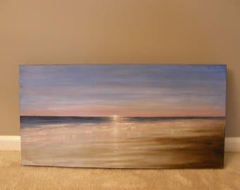 Beach sunrise, painting