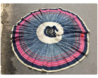 Vintage tribal Hmong women hemp ,cotton skirt in the north of Vietnam