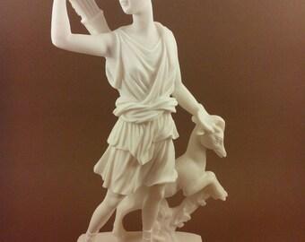 Diana Artemis Alabaster sculpture statue Ancient Greek Goddess of hunt