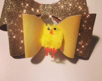 Cute easter chick hair bow