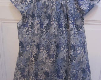 blouse(overall) woman hand-made in Liberty cotton