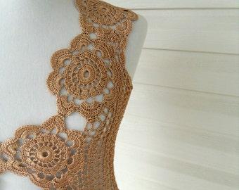 Crochet Lace Top, Crochet Vest, Summer Top, Beach Wear, Lace Tank, Gold Top, Summer Fashion