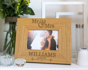 Wedding Photo Frame Personalized