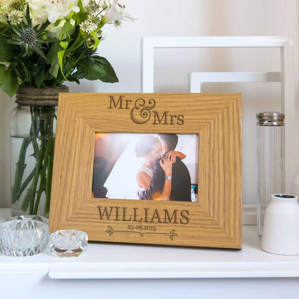 Personalisierte Bilderrahmen Hochzeit