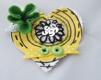 Quirky, Boho, Eclectic Textile Handmade Brooches, Pins, Badges