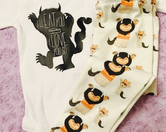 Where the wild things are. Baby boy. Baby girl. Gender neutral. Baby. Baby shower gift. READ ITEM DETAILS