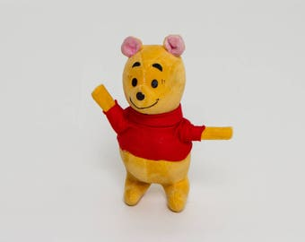vintage 1960s Winnie the Pooh Bear | classic Disney | 60s stuffed animal toy