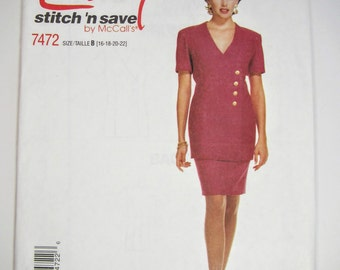 McCall's Easy 7472 Sewing Pattern Misses' Top & Suit Sizes 16 - 22 Uncut