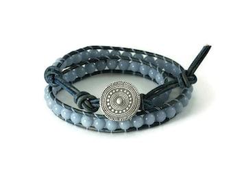 Silver mandalla wrap bracelet