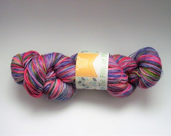 "Hand dyed 80/20 Superwash Merino/Nylon ""Spring 2"""